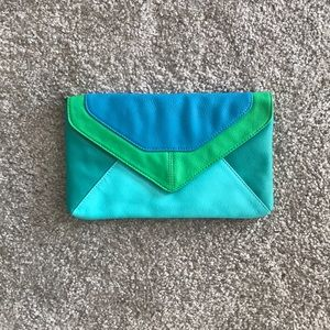 Handbags - Color Block Envelope Clutch